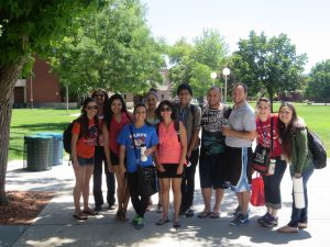 Photo of TRIO Upward Bound students at Boise State University