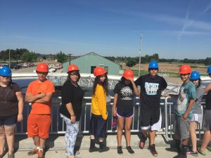 Photo of TRIO students at Boise Watershed