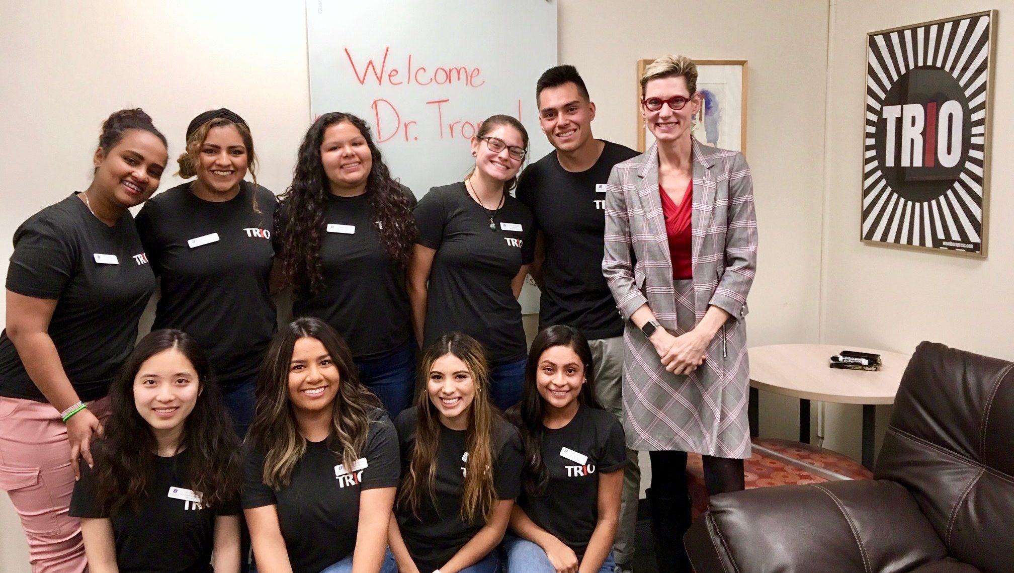 TRS Peer Mentors Meet Boise State President, Dr. Marlene Tromp